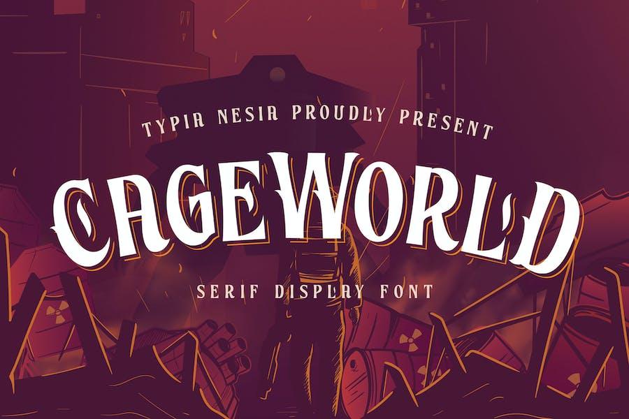 CageWorld - Game Font