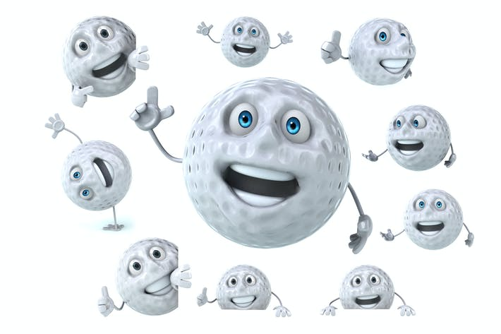 10 fun Golf characters !