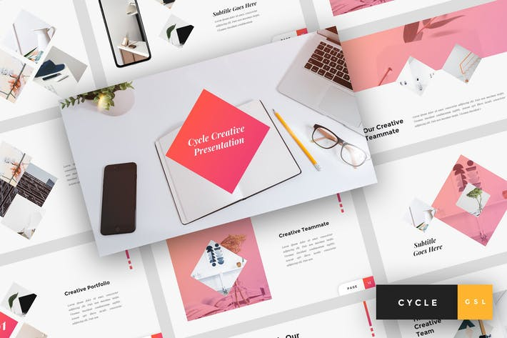Thumbnail for Cycle - Creative Google Slides Template