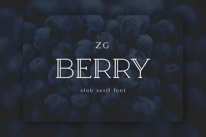 Thumbnail for Berry Slab Serif Police