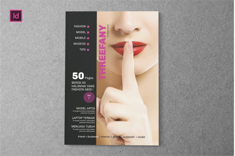 THREEFANY - Magazine Template