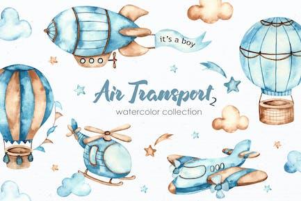 Watercolor Air transport 2