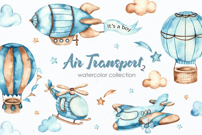 Thumbnail for Watercolor Air transport 2