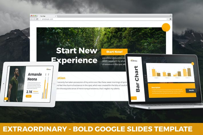 Thumbnail for Extraordinary - Bold Google Slides Template