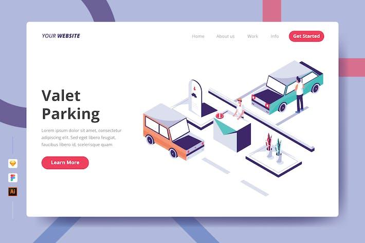 Valet Parking - Landing Page