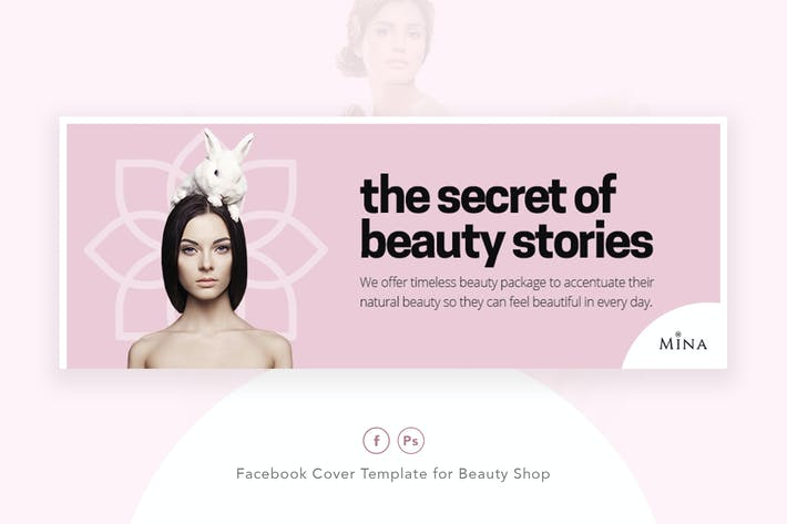 Thumbnail for Mina - Beauty Shop Facebook Cover Template