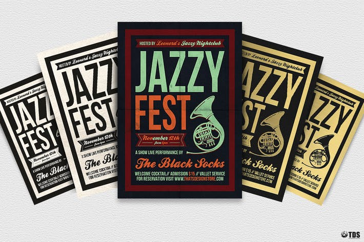 Thumbnail for Jazzy Fest Flyer Template V3