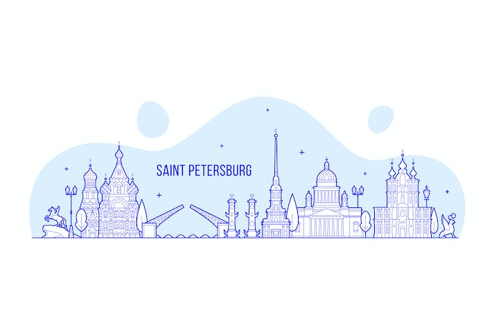 Thumbnail for Saint Petersburg skyline, Russia