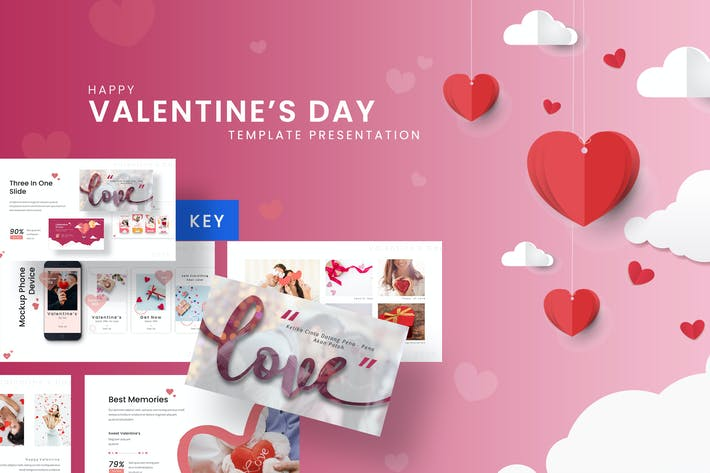 Thumbnail for Happy Valentine - Romantic Keynote Template