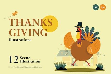 Иллюстрация на День благодарения