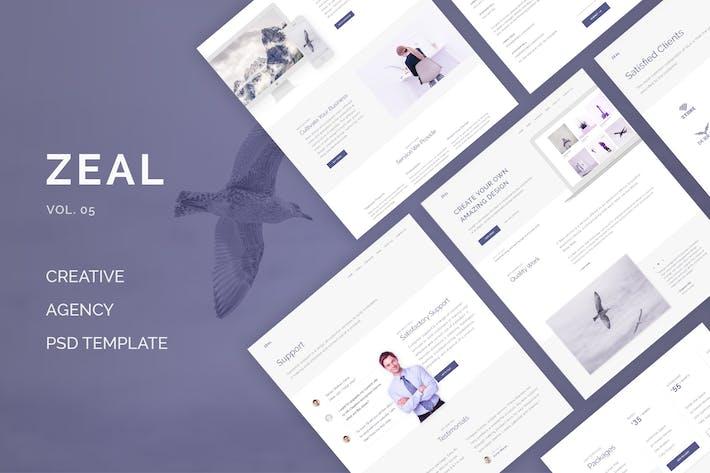 Thumbnail for Zeal - Creative Multi Purpose PSD (Vol. 5)