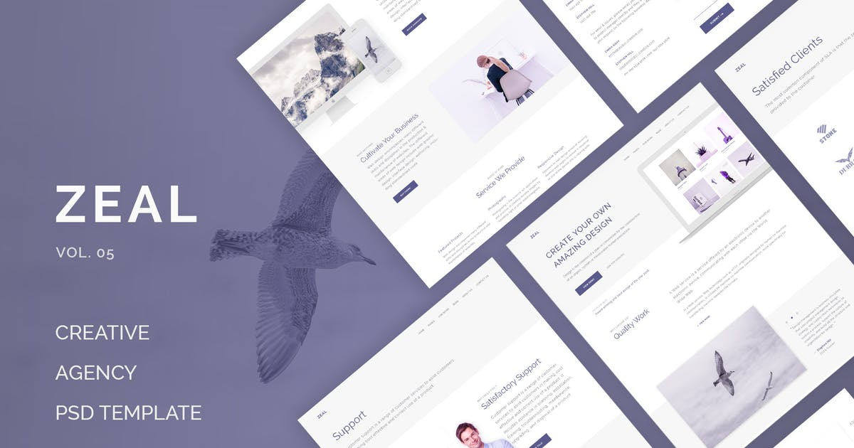 Zeal - Creative Multi Purpose PSD (Vol. 5) by Unknow