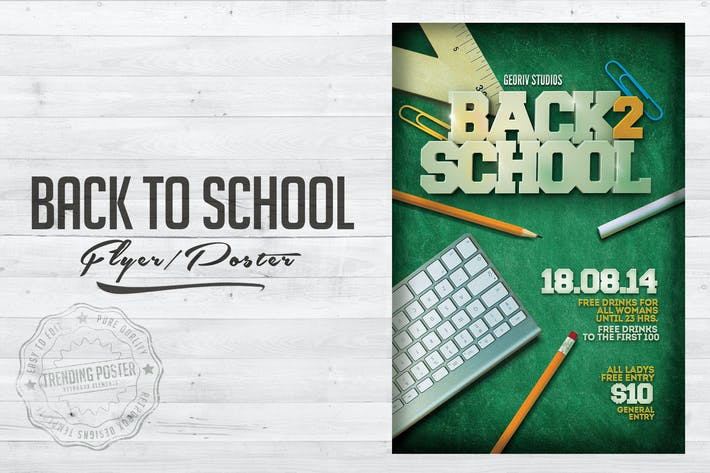 Cover Image For Back To School Flyer Poster