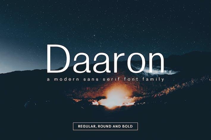 Daaron Sans Con serifa Familia tipográfica