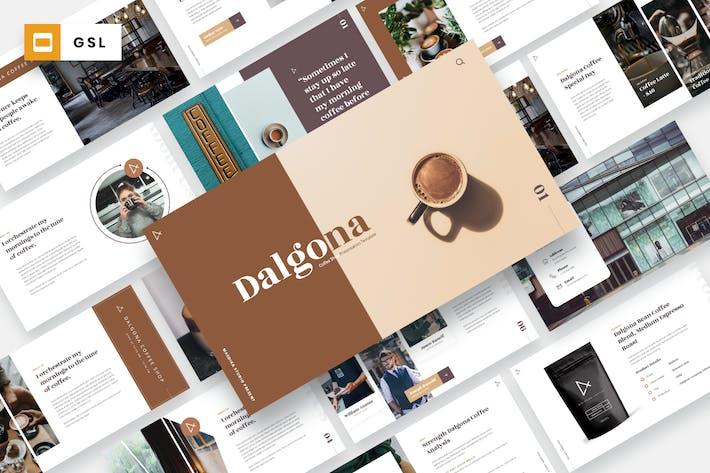 Thumbnail for DALGONA - Кофейня Google слайды Шаблон