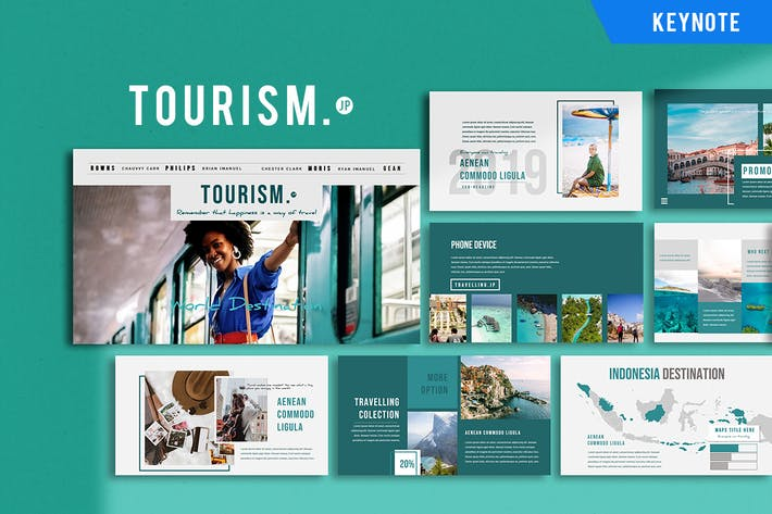 Thumbnail for Tourism Presentation - Keynote Template
