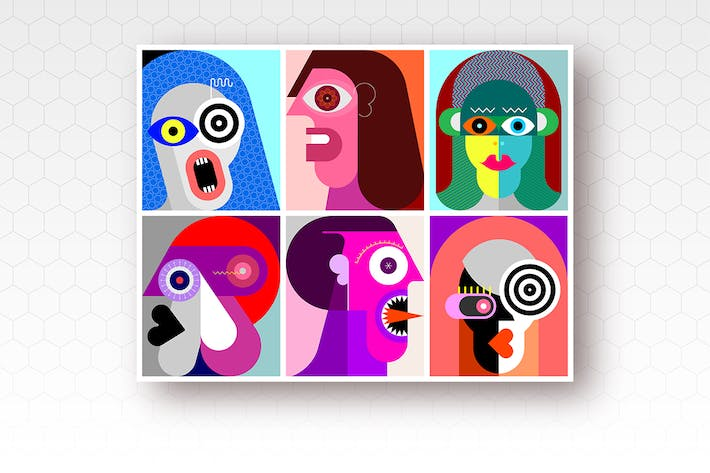 Thumbnail for Six People Portraits vector illustration