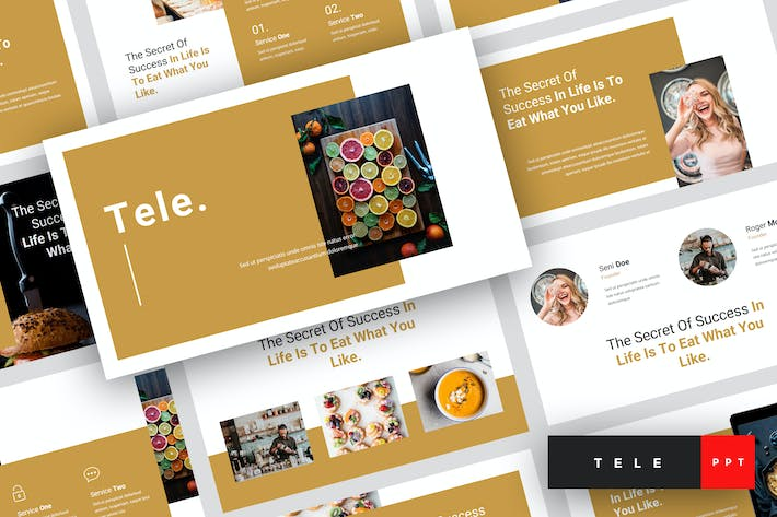 Thumbnail for Tele - Food PowerPoint Template