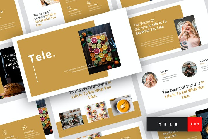 Tele Food Powerpoint Template By Stringlabs On Envato Elements