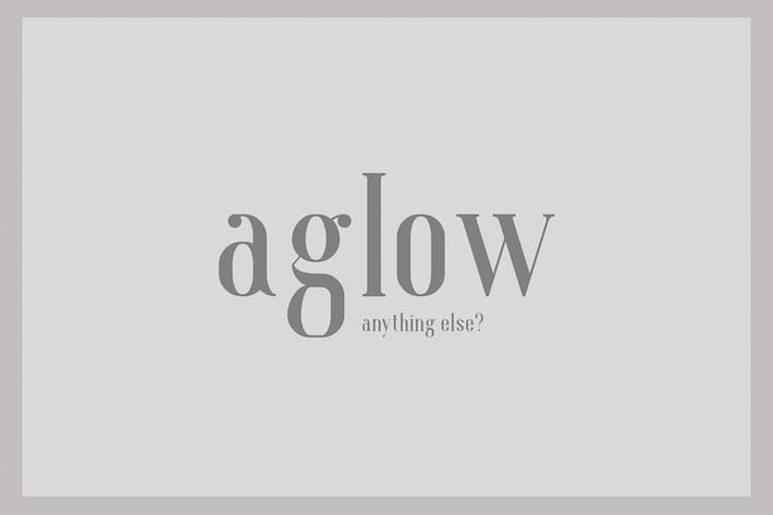 Thumbnail for Aglow Serif Family