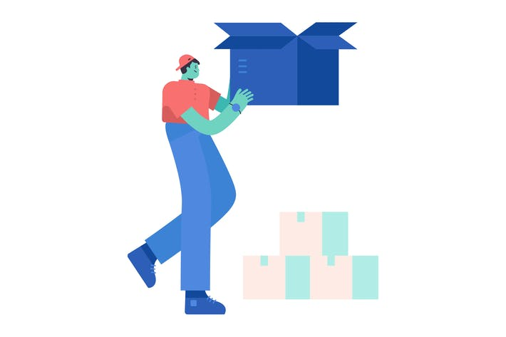 Shipping Flat Illustration