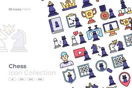 Icono lleno de ajedrez