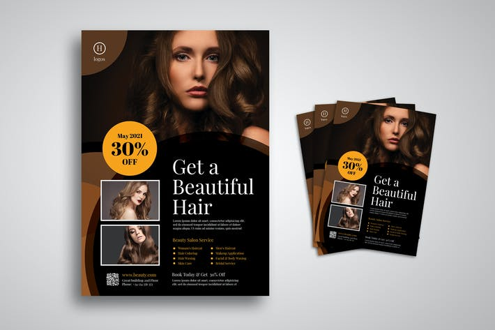 Thumbnail for Beautiful Hair Salon Flyer