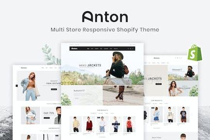 Anton - Multi Store Responsive Shopify Theme