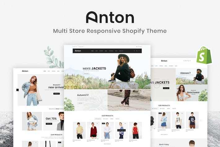 Cover Image For Anton - Multitienda Responsive Shopify Tema