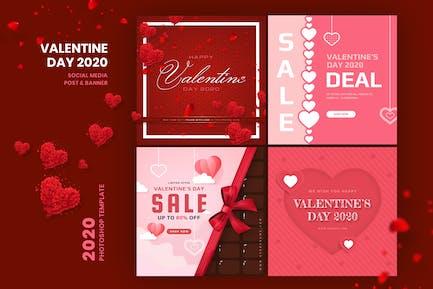Valentine Social Media Post & Banner Template