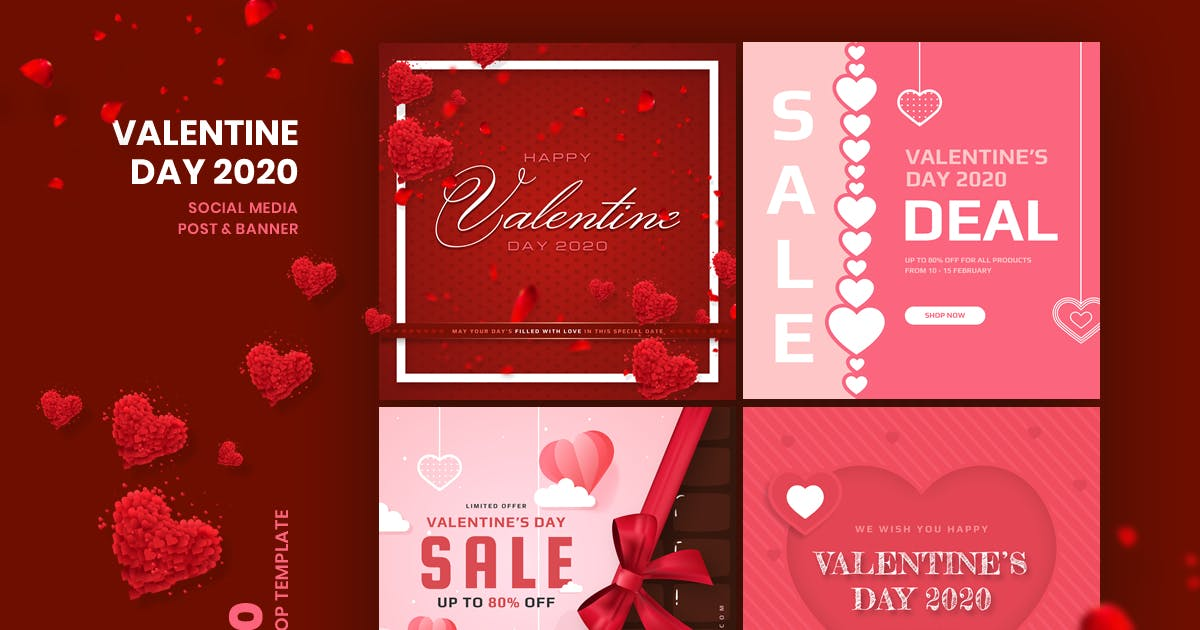 Download Valentine Social Media Post & Banner Template by youwes