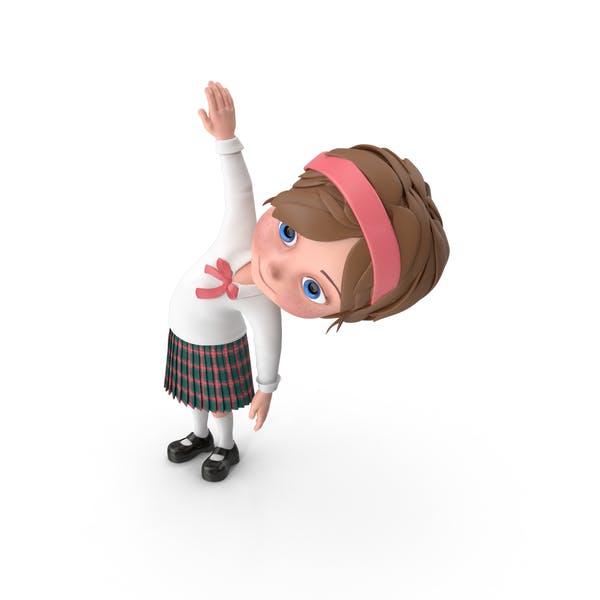 Cartoon Girl Meghan Doing Aerobics