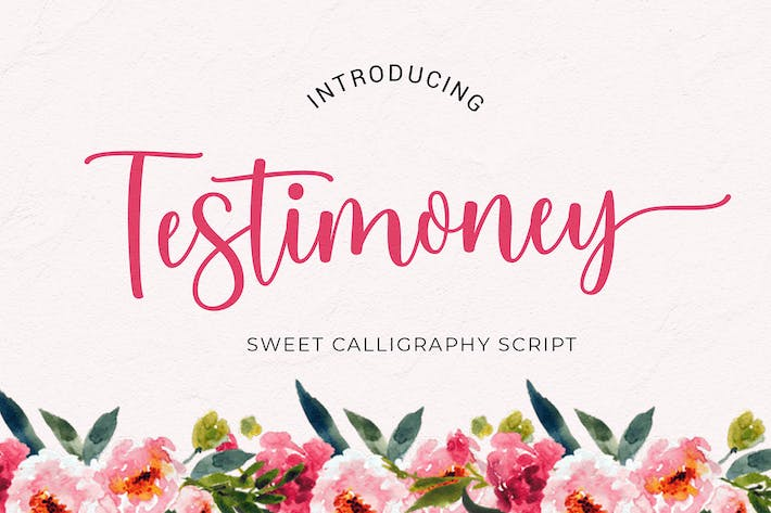 Thumbnail for Testimoney Modern Calligraphy