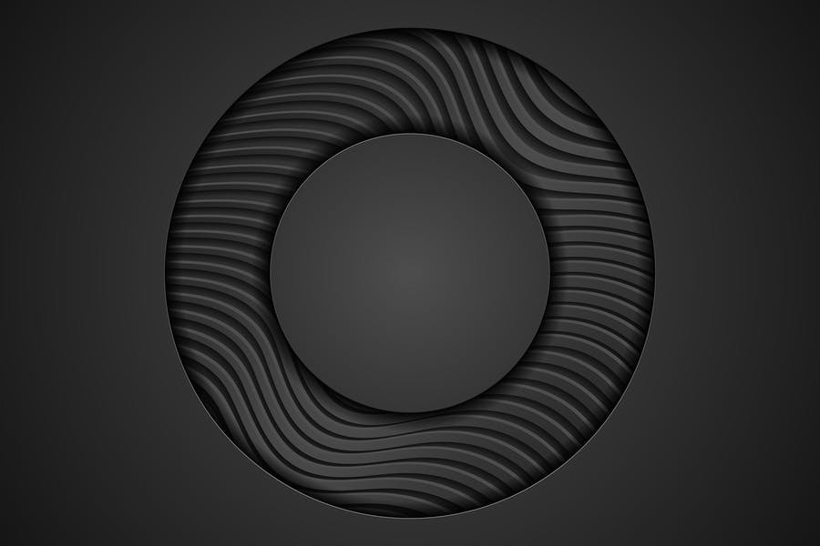 Black abstract corporate wavy texture background