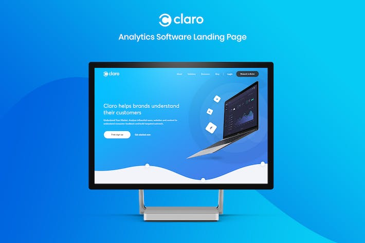 Thumbnail for Claro - Software, Dashboard &  App Landing Page