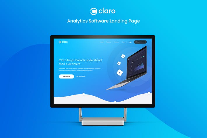Claro - Software, Dashboard &  App Landing Page