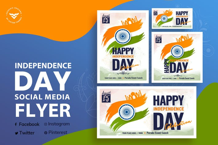 Thumbnail for Independence Day Social Media Template