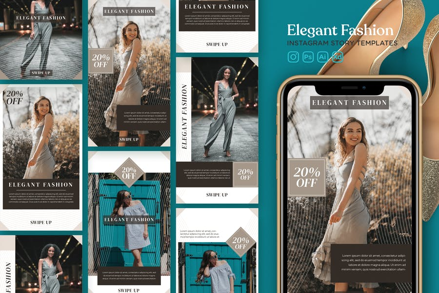 Instagram Story Template Vol.23 Elegant Fashion