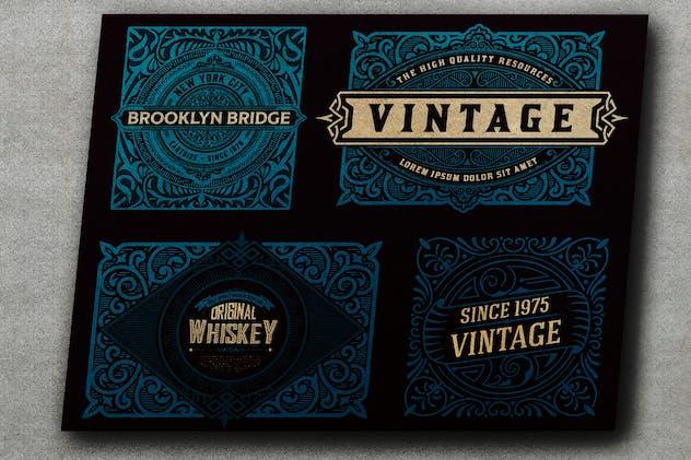 Set of 4 vintage Labels for packing