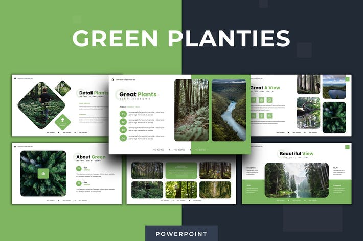 Thumbnail for Green Planties - Powerpoint Template
