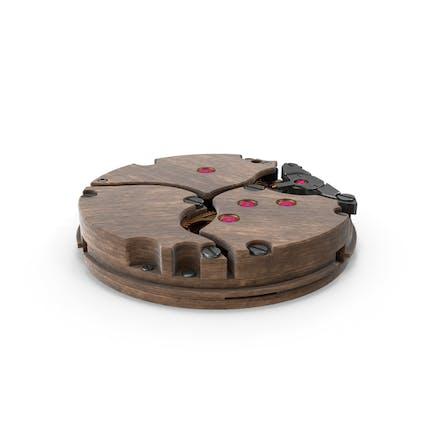 Reloj Mecanismo Madera