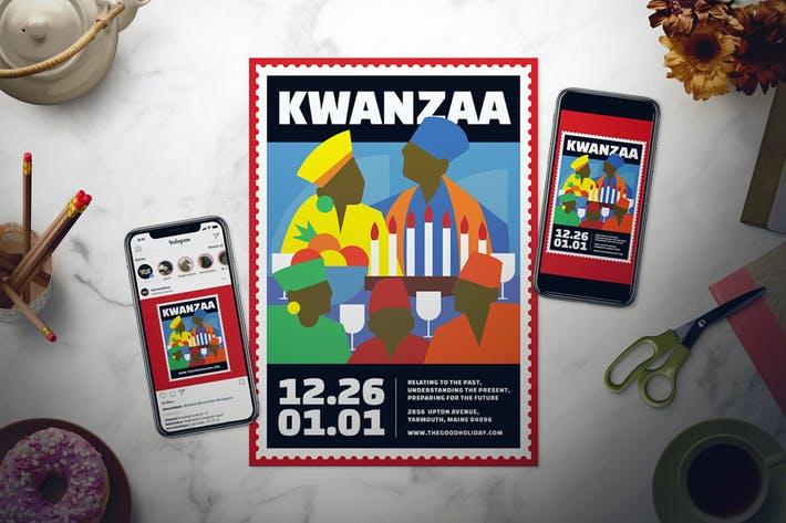 Thumbnail for Kwanzaa Flyer Set