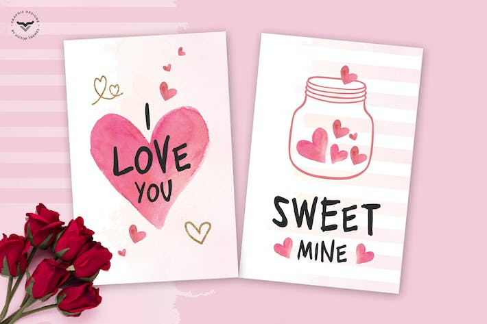 Thumbnail for Valentines Day Greeting Card Template