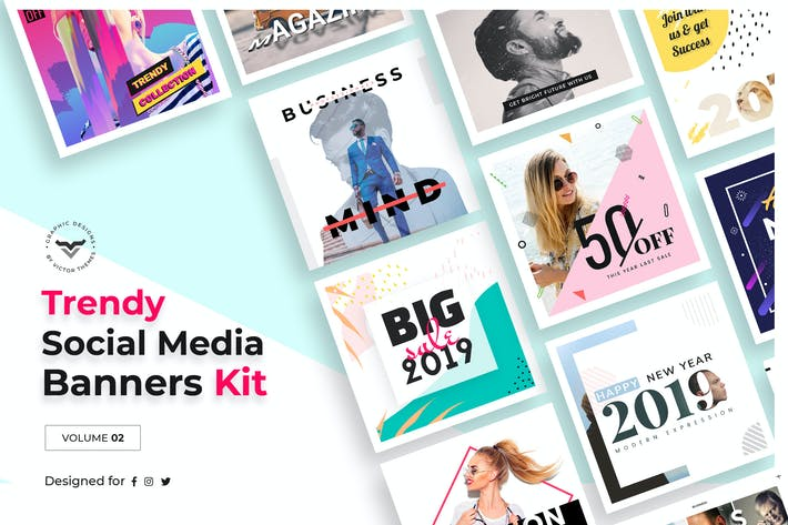 Thumbnail for Social Media Templates Volume II