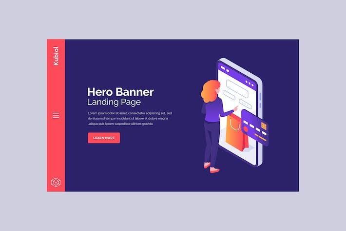 Thumbnail for Kubiol - Hero Banner Template