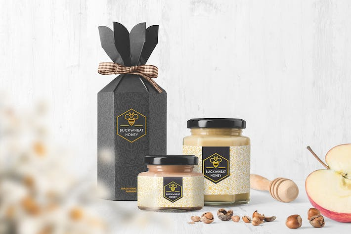 Thumbnail for Honey Jar Packaging Mockups