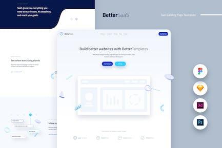Better Saas Landing Page Template UI Kit