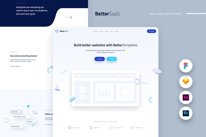 Thumbnail for Better Saas Landing Page Template UI Kit