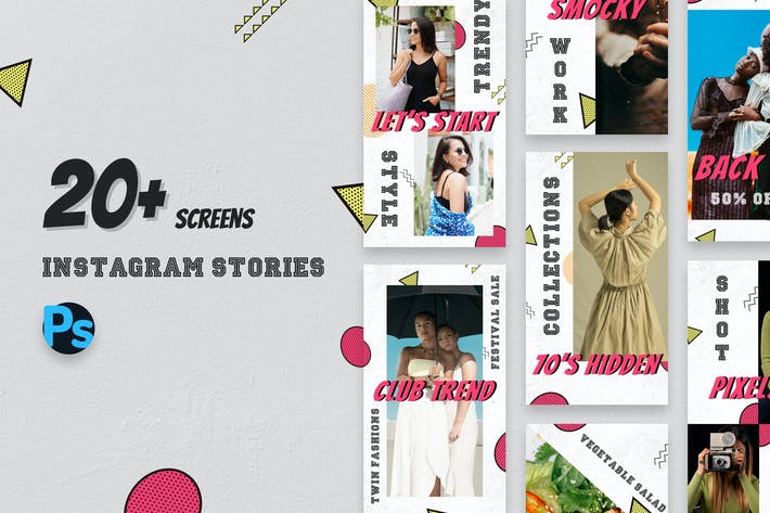 Thumbnail for 70s Vintage Style Instagram Stories Template