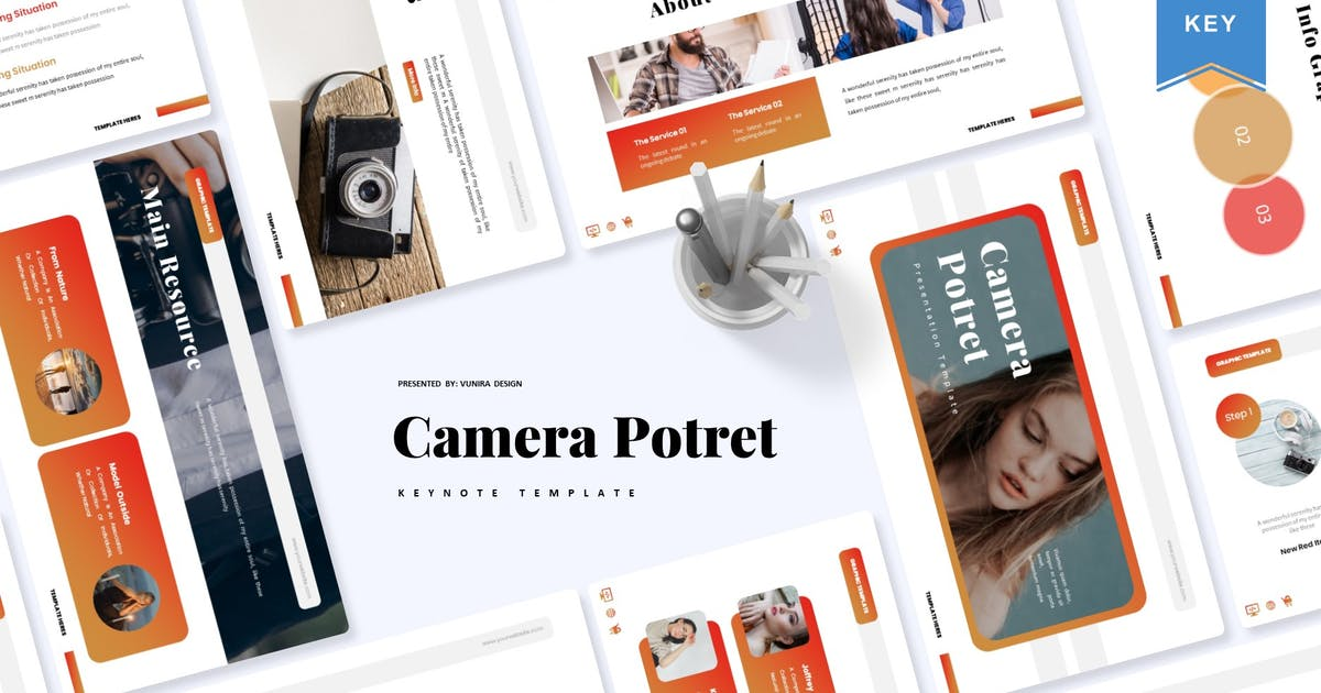 Download Camera Potret   Keynote Template by Vunira